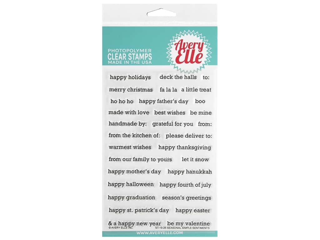 Avery Elle Clear Stamp Simple Sentiments