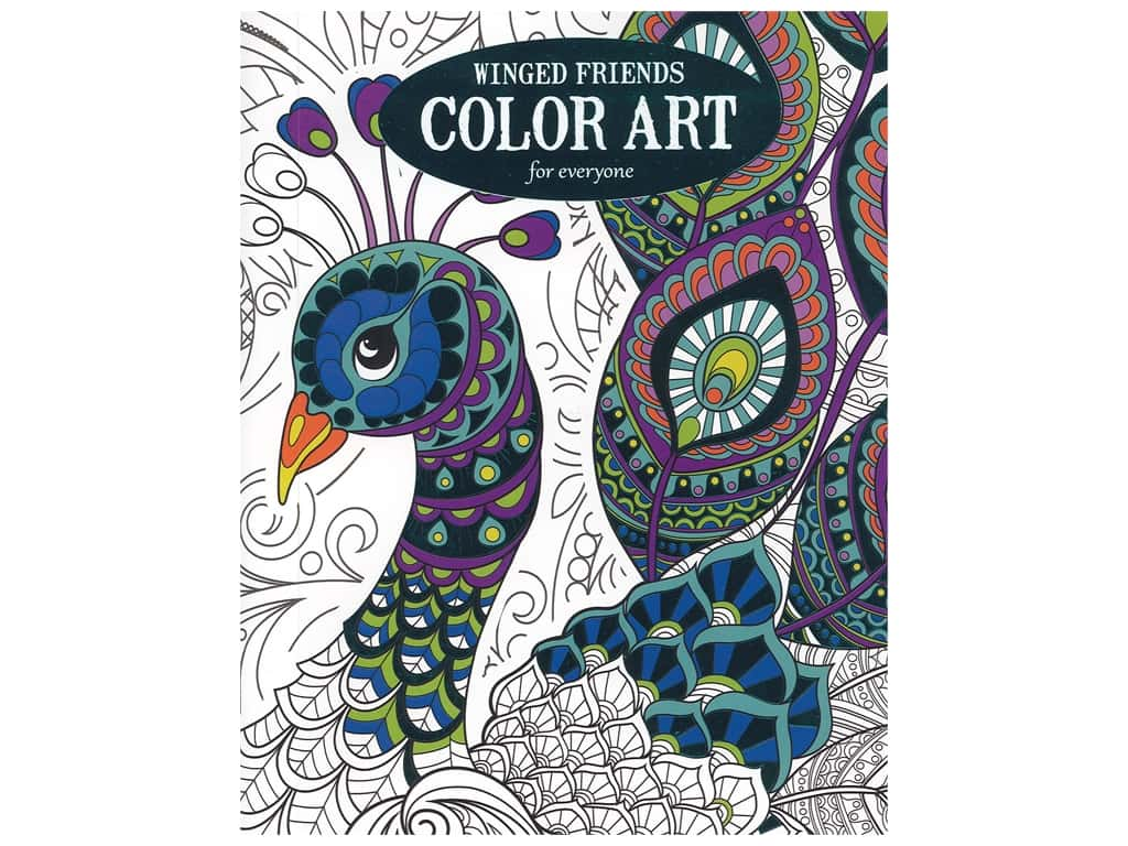 - Winged Friends Color Art Coloring Book -- CreateForLess