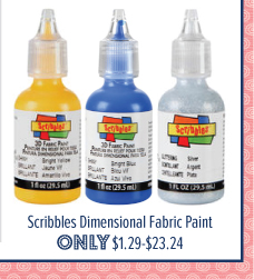 Scribbles Dimensional Fabric Paint